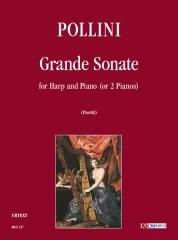 Pollini, Francesco : Grande Sonate for Harp and Piano (or 2 Pianos)