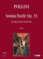Pollini, Francesco : Sonata Facile Op. 33 for Harp (Piano) and Violin