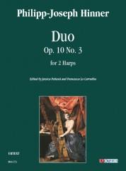 Hinner, Philipp-Joseph : Duo Op. 10 No. 3 for 2 Harps