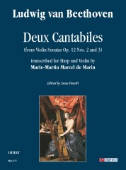 Beethoven, Ludwig van : Deux Cantabiles (from Violin Sonatas Op. 12 No. 1 and Op. 12 No. 3) for Harp and Violin