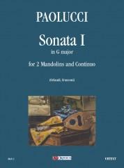 Paolucci, Giuseppe : Sonata I in G Major for 2 Mandolins and Continuo