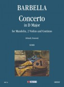 Barbella, Emanuele : Concerto in D Major for Mandolin, Strings and Continuo [Score]