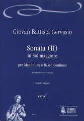 Gervasio, Giovan Battista : Sonata (II) in G Major for Mandolin and Continuo