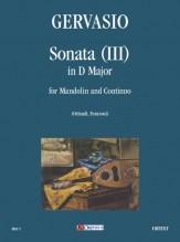 Gervasio, Giovan Battista : Sonata (III) in D Major for Mandolin and Continuo