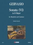 Gervasio, Giovan Battista : Sonata (VI) in D Major for Mandolin and Continuo