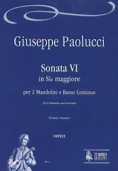 Paolucci, Giuseppe : Sonata VI in B flat Major for 2 Mandolins and Continuo