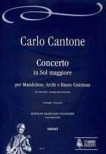 Cantone, Carlo : Concerto in G Major for Mandolin, Strings and Continuo [Piano Reduction]