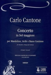 Cantone, Carlo : Concerto in G Major for Mandolin, Strings and Continuo [Piano Reduction]
