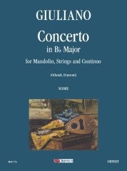 Giuliano, Giuseppe : Concerto in B flat Major for Mandolin, Strings and Continuo [Score]