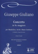 Giuliano, Giuseppe : Concerto in B flat Major for Mandolin, Strings and Continuo [Piano Reduction]