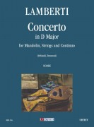 Lamberti, Luigi : Concerto in D Major for Mandolin, Strings and Continuo [Score]