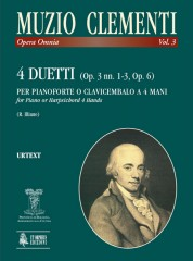 Clementi, Muzio : 4 Duets (Op. 3 Nos. 1-3, Op. 6) for Piano (Harpsichord) 4 Hands