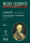 Clementi, Muzio : 3 Sonatas Op. 2 Nos. 2, 4, 6 for Piano (Harpsichord)