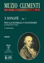 Clementi, Muzio : 3 Sonatas Op. 7 for Harpsichord (Piano)