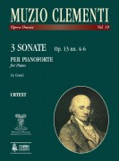 Clementi, Muzio : 3 Sonatas Op. 13 Nos. 4-6 for Piano