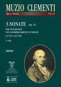 Clementi, Muzio : 3 Sonatas Op. 15 for Piano and Violin