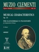 Clementi, Muzio : Musical Characteristics Op. 19 for Harpsichord (Piano)