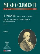 Clementi, Muzio : 4 Sonatas (Op. 23 Nos. 1-3 and Op. 26) for Piano (Harpsichord)