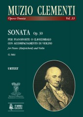 Clementi, Muzio : Sonata Op. 30 for Piano (Harpsichord) and Violin