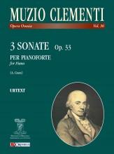 Clementi, Muzio : 3 Sonatas Op. 33 for Piano