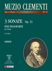 Clementi, Muzio : 3 Sonatas Op. 33 for Piano