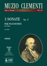 Clementi, Muzio : 3 Sonatas Op. 37 for Piano