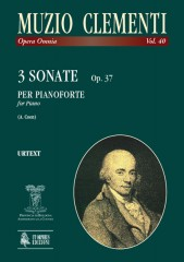 Clementi, Muzio : 3 Sonatas Op. 37 for Piano