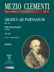 Clementi, Muzio : Gradus ad Parnassum Op. 44 for Piano - Vol. 3