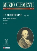 Clementi, Muzio : 12 Monferrine Op. 49 for Piano