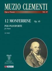 Clementi, Muzio : 12 Monferrine Op. 49 for Piano