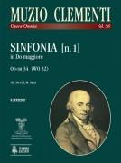 Clementi, Muzio : Sinfonia [No. 1] Op-sn 34 in C Major (WO 32) [Score]