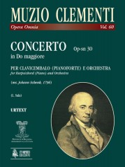 Clementi, Muzio : Concerto Op-sn 30 in C Major for Piano and Orchestra (ms. Johann Schenk, 1796) [Score]