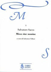 Sacco, Salvatore : Missa sine nomine (Roma 1607) for 8 Voices (SATB-SATB) and Continuo [Score]