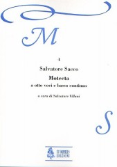 Sacco, Salvatore : Motecta (Roma 1607) for 8 Voices (SATB-SATB) and Continuo [Score]