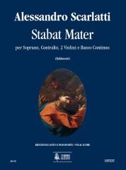 Scarlatti, Alessandro : Stabat Mater for Soprano, Contralto, 2 Violins and Continuo [Vocal Score]