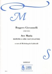 Giovannelli, Ruggero : Ave Maria. Motet for 8 Voices (SATB-SATB) [Score]