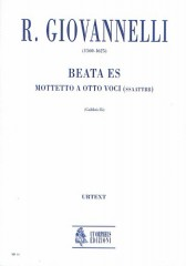 Giovannelli, Ruggero : Beata es. Motet for 8 Voices (SATB-SATB) [Score]