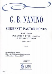 Nanino, Giovanni Bernardino : Surrexit Pastor Bonus. Motet (Roma 1607) for 8-part Choir (SATB-SATB) and Continuo [Score]