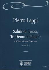 Lappi, Pietro : Salmi di Terza, Te Deum e Litanie (Venezia 1607) for 8 Voices and Continuo [Score]