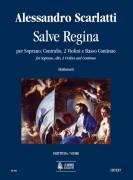 Scarlatti, Alessandro : Salve Regina for Soprano, Alto, 2 Violins and Continuo [Score]