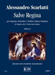 Scarlatti, Alessandro : Salve Regina for Soprano, Alto, 2 Violins and Continuo [Vocal Score]