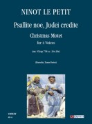 Ninot le Petit : Psallite noe, Judei credite. Christmas Motet (ms. VEcap 758 cc. 26v-30r) for 4 Voices