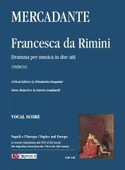 Mercadante, Saverio : Francesca da Rimini. Dramma per musica in due atti (1830/31) [Vocal Score]