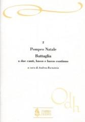 Natale, Pompeo : Battaglia a 2 Canti, Basso e Basso Continuo (Roma 1681)