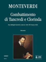 """Monteverdi, Claudio : Combattimento di Tancredi e Clorinda (from """"Madrigali Guerrieri e Amorosi. Libro VIII"""") [Score]"""