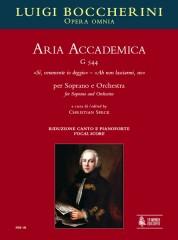 """Boccherini, Luigi : Aria Accademica G 544 """"Sì, veramente io deggio"""" – """"Ah non lasciarmi, no"""" for Soprano and Orchestra [Vocal Score]"""