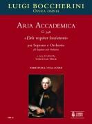 """Boccherini, Luigi : Aria Accademica G 546 """"Deh respirar lasciatemi"""" for Soprano and Orchestra [Score]"""