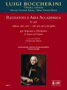 """Boccherini, Luigi : Recitativo e Aria accademica G 548 """"Misera, dove son!"""" – """"Ah! non son io che parlo"""" for Soprano and Orchestra [Vocal Score]"""