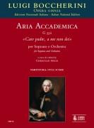 """Boccherini, Luigi : Aria accademica G 552 """"Caro padre, a me non dei"""" for Soprano and Orchestra [Score]"""
