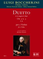 Boccherini, Luigi : Duetto Op. 3 No. 3 (G 58) in A Major for 2 Violins